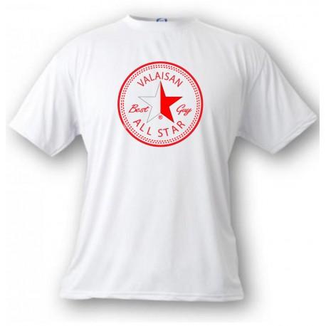 Uomo moda T-Shirt - Valaisan, ALL STAR Best Guy, White