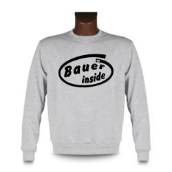Herren Lustig Sweatshirt - Bauer inside, Ash Heater