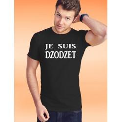Uomo Moda cotone T-Shirt - Je suis DZODZET, 36-Nero