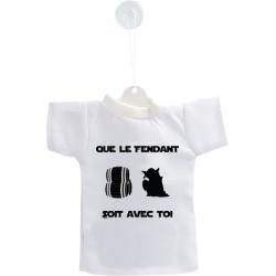 Auto deko Mini T-Shirt - Que le Fendant soit avec Toi