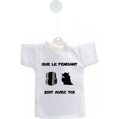 Decorazione auto Mini T-Shirt - Que le Fendant soit avec Toi