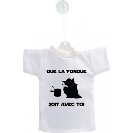 Decorazione auto Mini T-Shirt - Que la Fondue soit avec Toi