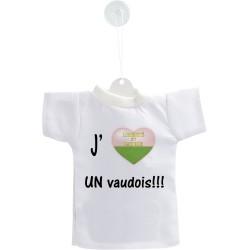 Déco voiture Mini T-shirt - J'aime UN vaudois