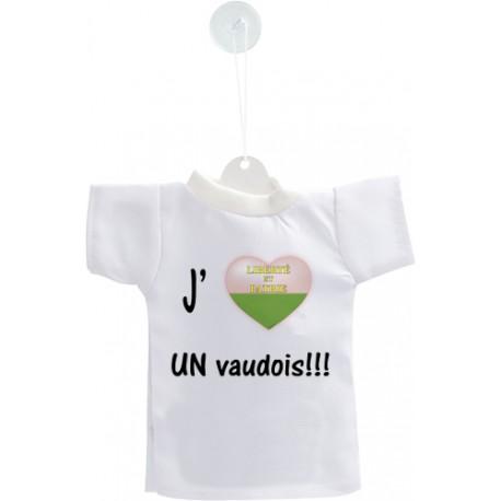 Auto deko Mini T-Shirt - J'aime UN vaudois
