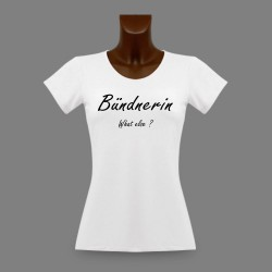 Moda Donna T-shirt - Bündnerin, What else ?