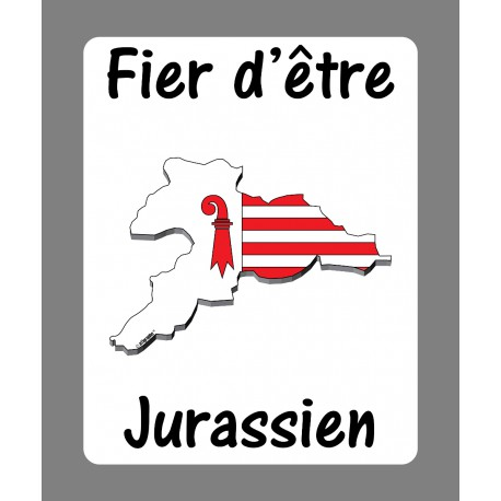 Sticker - Fier d'être Jurassien - Adesivo per Automobile