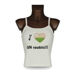 Women's style fashion Top - J'aime UN vaudois, Natural