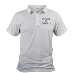 Moda Uomo Funny Polo Shirt - Master of Disaster