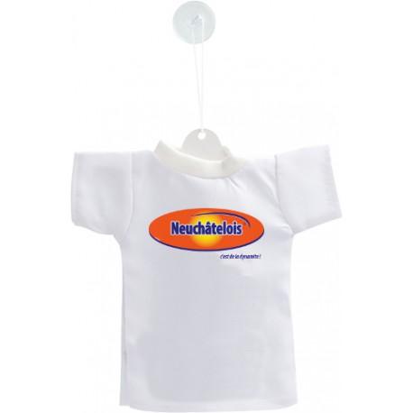 Déco voiture Mini T-shirt - Neuchâtelois, c'est de la dynamite !