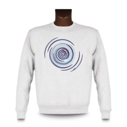Sweat mode homme - Spirale Blue, White