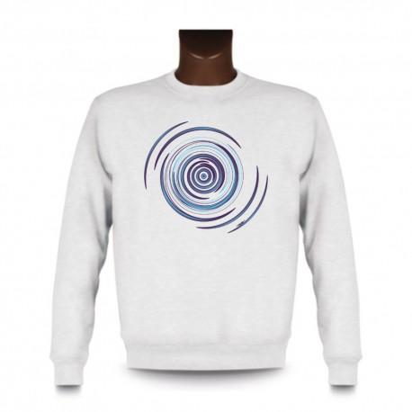 Uomo moda Sweatshirt - Spirale Blue, White