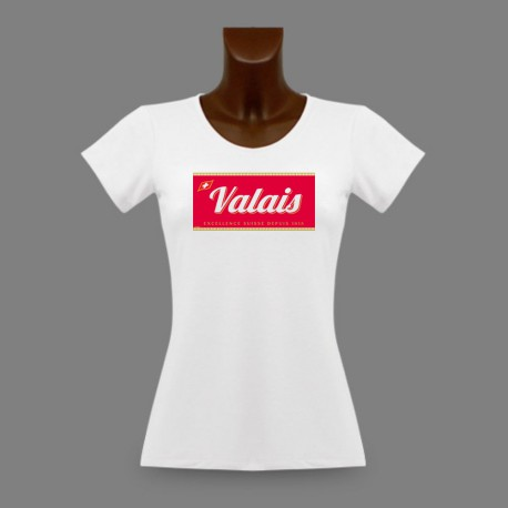 Frauenmode T-shirt - Valais, Excellence Suisse depuis 1815