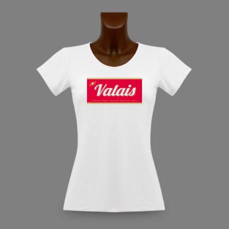 Women's slim T-Shirt - Valais, Excellence Suisse depuis 1815