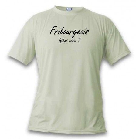 Uomo T-Shirt umoristica  - Fribourgeois, What else, November White