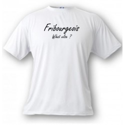 Uomo T-Shirt umoristica - Fribourgeois, What else, White