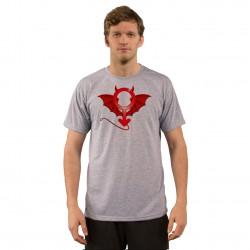 Herrenmode lustig T-Shirt - Teufel Mann, Ash Heater