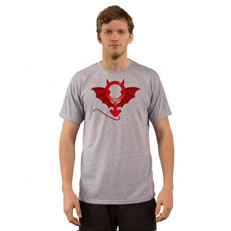 Uomo moda T-Shirt umoristica - Uomo del diavolo, Ash Heater