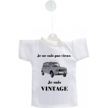 Auto deko Mini T-Shirt - Vintage Renault 4L