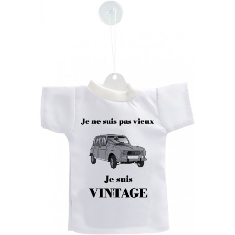 Car's Customization Mini T-Shirt - Vintage Renault 4L