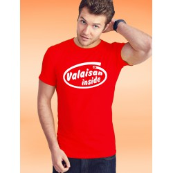 Men's cotton T-Shirt - Valaisan inside, 40-Red