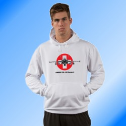 Hooded Fighter Aircraft Sweatshirt - Swiss FA-18 Hornet, color version