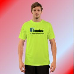 Humoristisch T-Shirt - fondue, le meilleur réseau social,  Safety Yellow