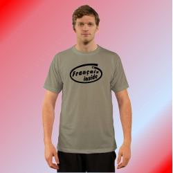Humoristisch Herrenmode T-Shirt - Français inside, Alpin Spruce