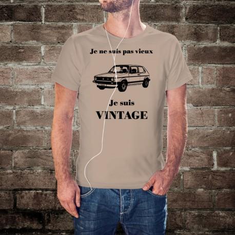 T-Shirt humoristique mode homme - Vintage VW Golf GTI MK1, November White