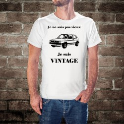T-Shirt humoristique mode homme - Vintage VW Golf GTI MK1,  White