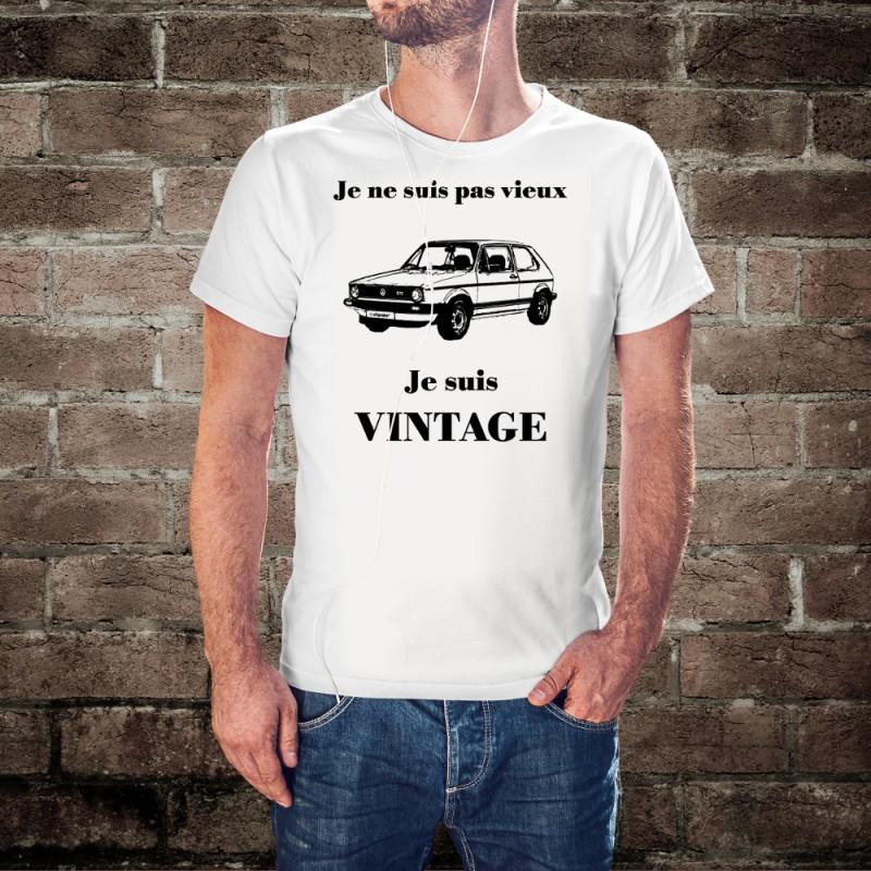 herrenmode humoristisch t shirt vintage vw golf gti mk1. Black Bedroom Furniture Sets. Home Design Ideas