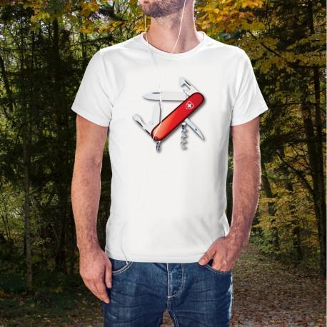Couteau militaire suisse ✚ utilisé par de nombreuses armées du monde ✚ T-Shirt homme