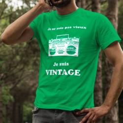 Uomo cotone T-Shirt - Vintage radio, 47-Verde Prato