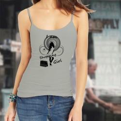 Canotta stile moda Donna - I am a shopping Girl, Natural