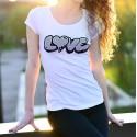 Women's slinky T-Shirt - LOVE graffiti