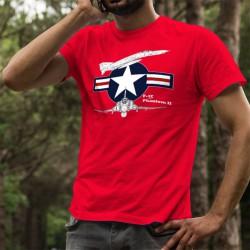 McDonnell F-4E Phantom II ★ USAF ★ Herren Mode Baumwolle T-Shirt amerikanischen Kampfflugzeug