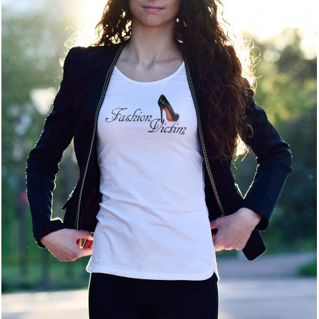 Frauen mode T-shirt - Fashion Victim Black Shoe