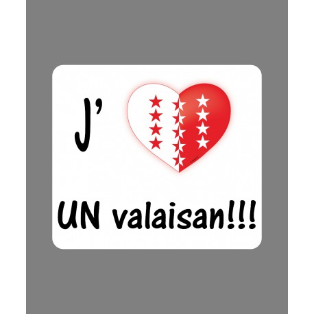 Car customization Sticker - J'aime un Valaisan