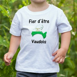 Youth fashion T-shirt - Fier d'être Vaudois, White