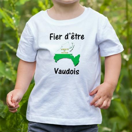 Bambini Moda T-shirt - Fier d'être Vaudois, White