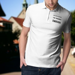 Men's fashion funny Polo Shirt - J'ai toujours raison