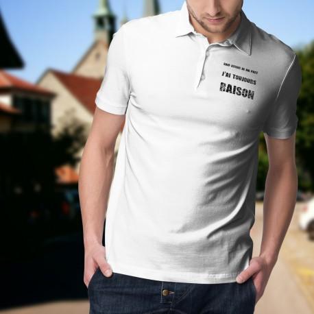 Men's fashion funny Polo Shirt - J'ai toujours raison