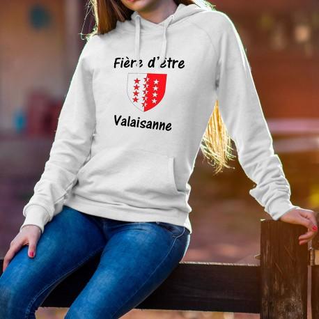 Frauen Kapuzen-Sweatshirt - Fière d'être Valaisanne