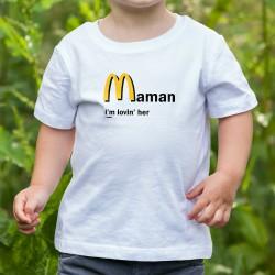 T-shirt mode enfant - Maman, I'm lovin' her