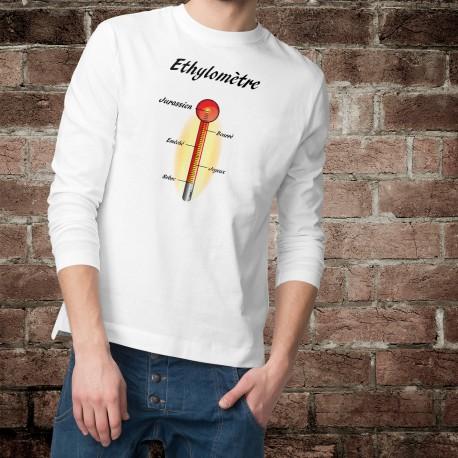 Sweat humoristique mode homme - Ethylomètre jurassien, White