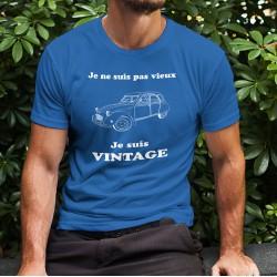 T-shirt coton mode homme - Vintage Deuche, 51-Bleu Royal