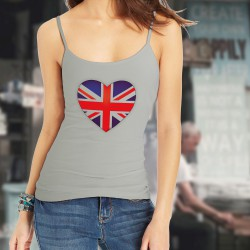 Women's style fashion Top - British Heart, Natural