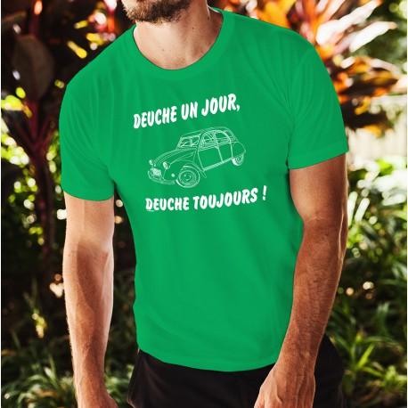 Uomo cotone T-Shirt - Deuche un Jour, 47-Verde Prato