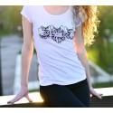 Fashion T-Shirt - Tribal tattoo heads of cats