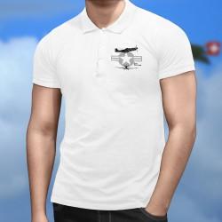 P-51 Mustang ★ Polo shirt homme avion de chasse de légende de la seconde guerre mondiale