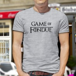Uomo moda umoristica T-Shirt - Game of Fondue, Ash Heater
